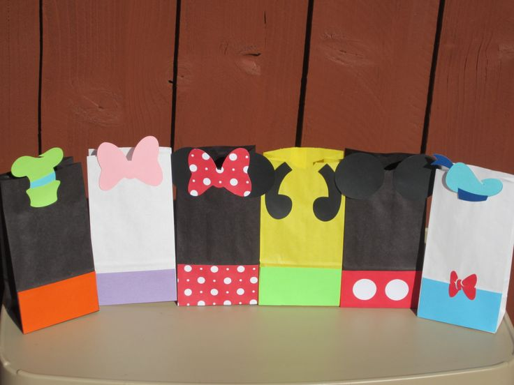 Mickey Mouse Clubhouse Favor Treat Bags Set of 12, Mickey Mouse Clubhouse Party, Mickey Mouse Clubhouse Birthday, Mickey Mouse Decorations by LittleBirdiPaperShop on Etsy https://www.etsy.com/listing/108810874/mickey-mouse-clubhouse-favor-treat-bags