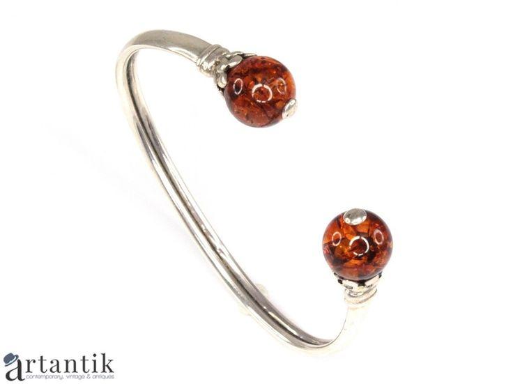 Bratara, argint si chihlimbar natural / Bracelet, silver and natural amber