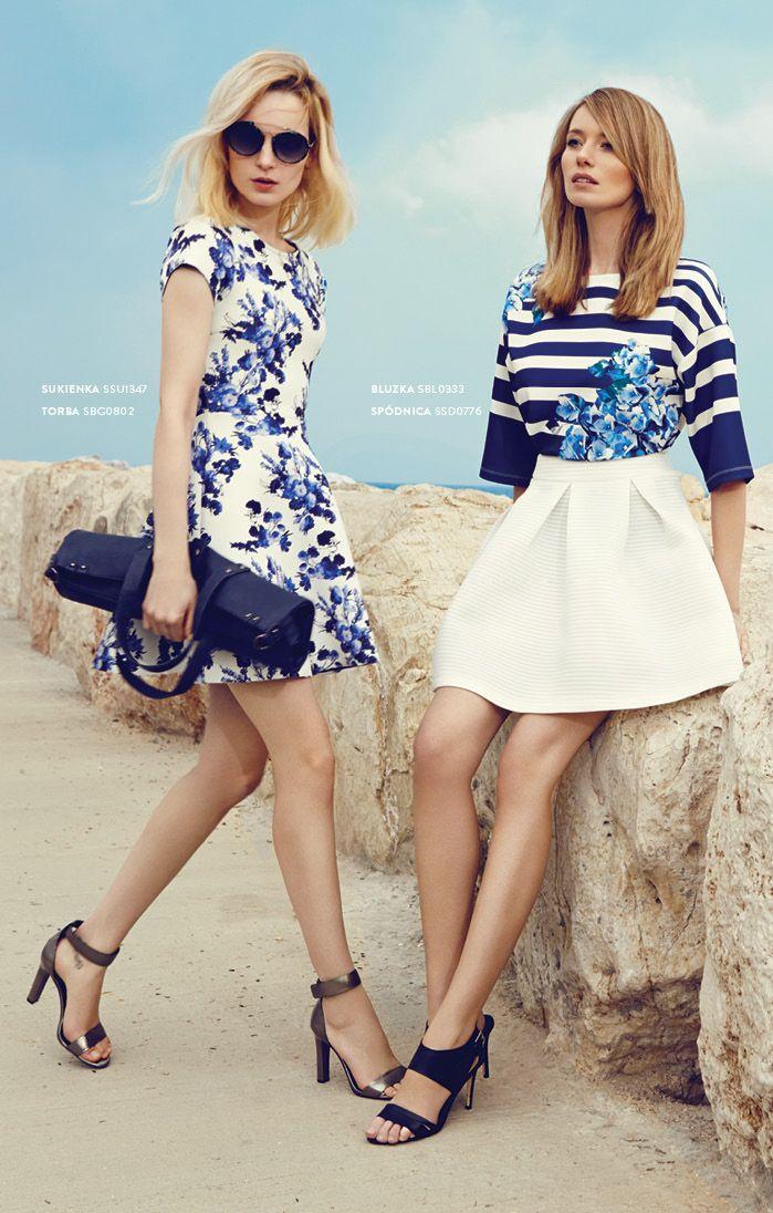 Letnia #Sukienka w kwiaty i rozkloszowana #spodnica #topsecret