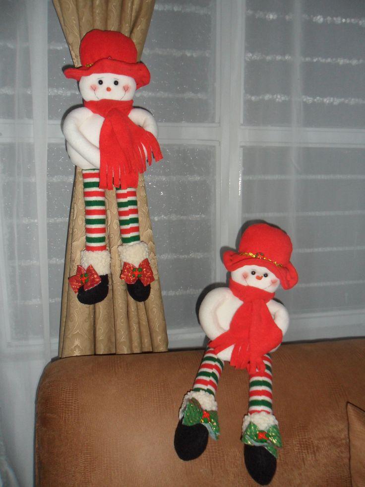 Muñecos de Nieve Cortineros