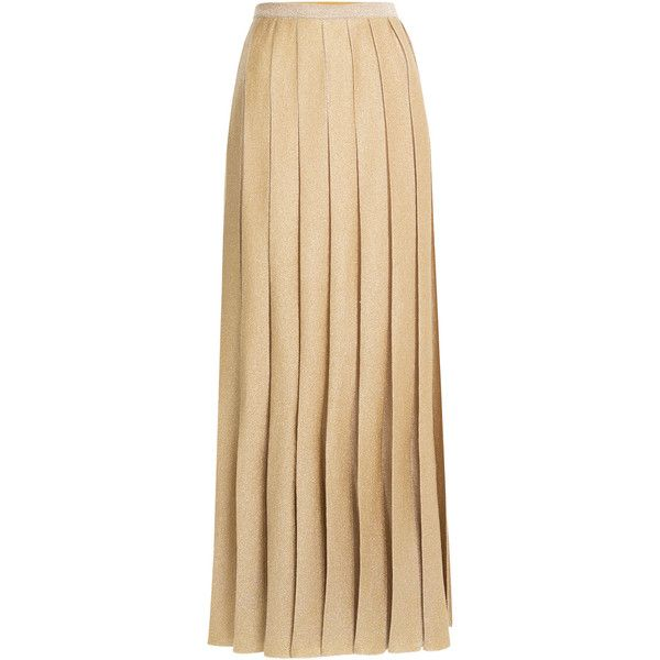 Missoni Metallic Knit Maxi Skirt found on Polyvore