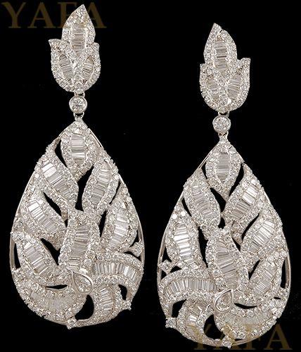 18k Gold Diamond Earrings - Yafa Jewelry