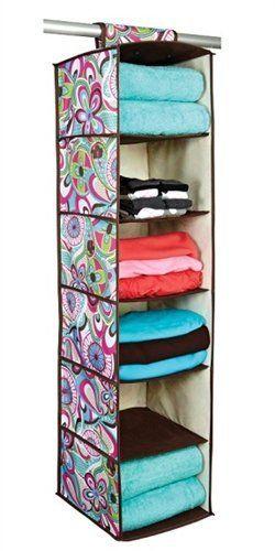 6 Shelf Sweater Organizer - Lush Tropics Series by DormCo. $15.95