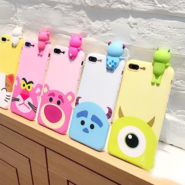 For iPhone 7 7 Plus Cute 3D Cartoon phone Cases For iphone 6 6s ...