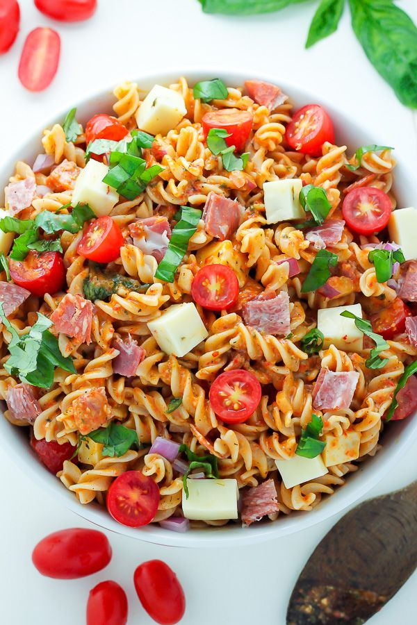 15-Minute Italian Pasta Salad - Quick, easy, and loaded with flavor, this 15-Minute Italian Pasta Salad is perfect for Summer parties and barbecues!