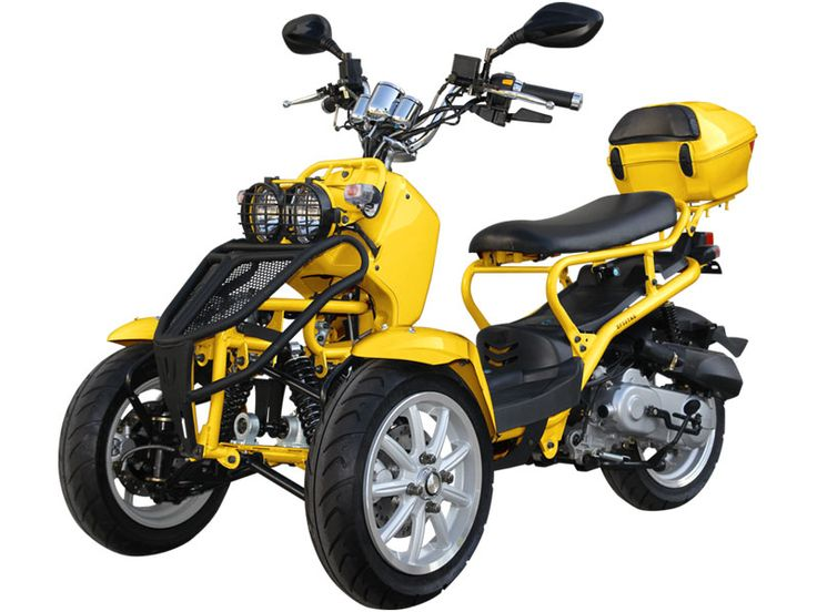 Limited Edition! 50cc Ruckus Style Reverse Trike! Exclusively offered! - 50cc Moped Scooters - Moped Scooters