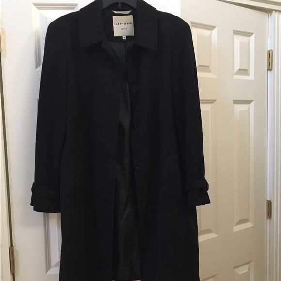 ⬇️Like New Larry Levine Coat Excellent condition only been used a couple of times, looks like new, no flaws! Very classy! Larry Levine Jackets & Coats
