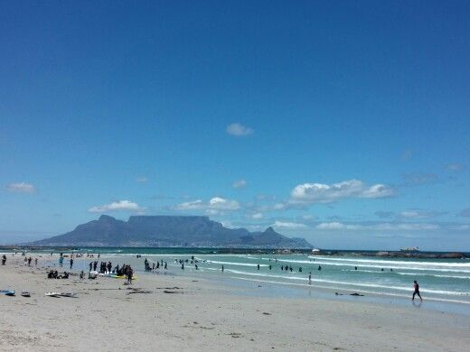 Cool summer day at Big Bay, Cape Town
