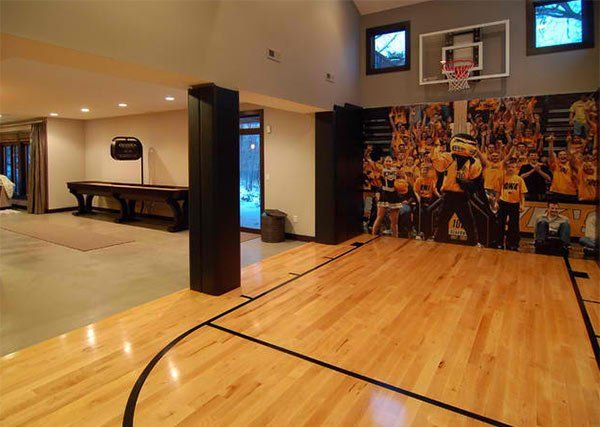 Perfect 15 Ideas For Indoor Home Basketball Courts