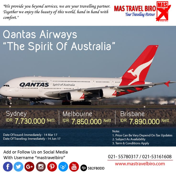 Qantas Airways Flight to Australia , Only IDR 7.730.000/Pax , Book Now !! ;) #mastravelbiro #australia #qantasairways