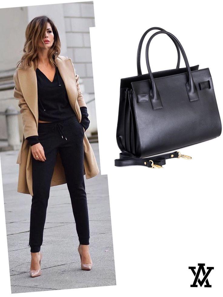 Italian leather bags code: SIENA black shoponline: www.adelevivian.com