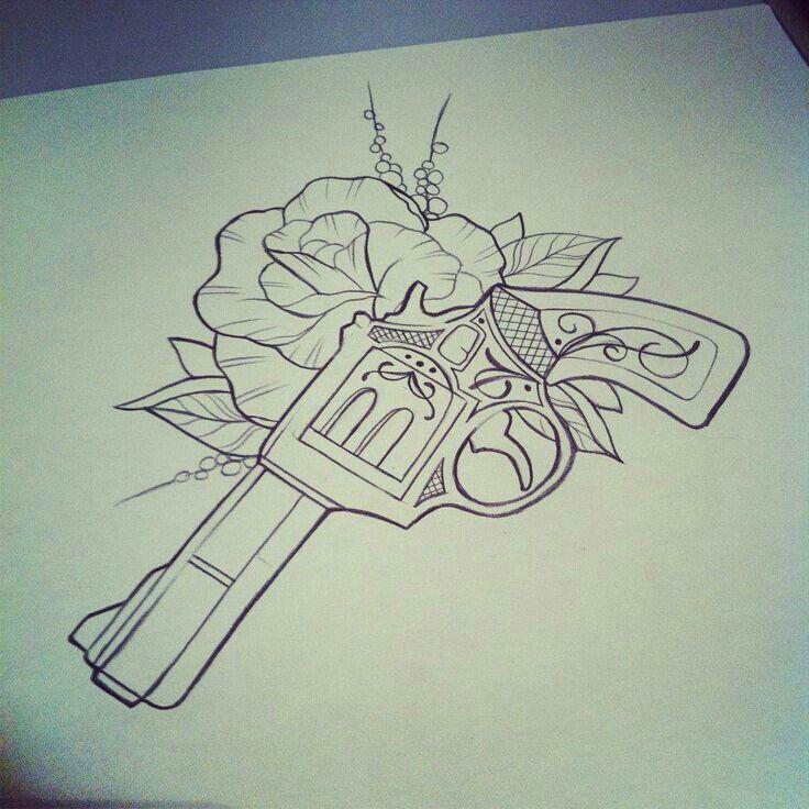 best 25 gun tattoos ideas on pinterest pistol gun. Black Bedroom Furniture Sets. Home Design Ideas