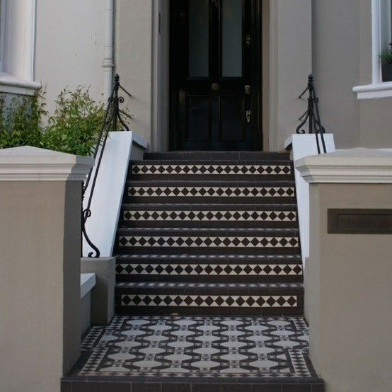 Entrance with victorian tiling my forever home for Edwardian tiles for porch