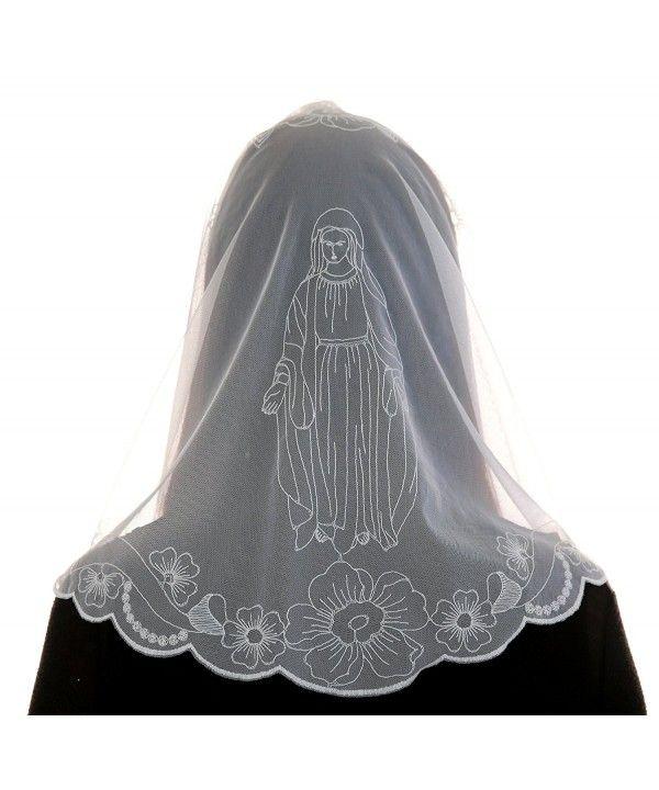 Chapel Catholic Veil Spanish Lace Mantilla Medium Virgin Mary White Cy11y25xw5v Lace Mantilla Catholic Fashion Catholic Veil