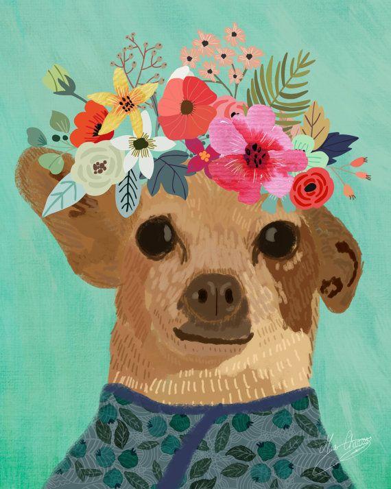 Custom Pet Portrait. Custom pet illustration. by MiaCharro on Etsy