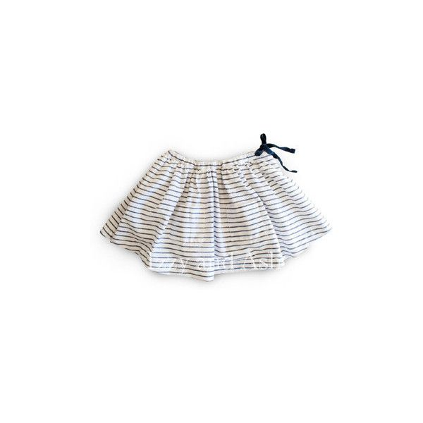 Egg Girls Stripe Gathered Tie Skirt AVAILABLE FOR PREORDER** (€35) ❤ liked on Polyvore featuring children's clothes