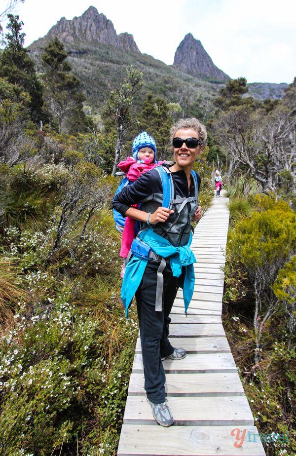 Walking around Cradle Mountain in Tasmania, Australia with kids!