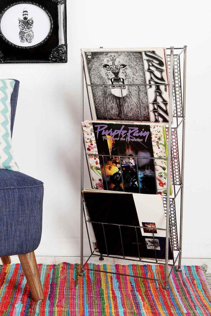 Porte vinyles Urban Outfitters gris