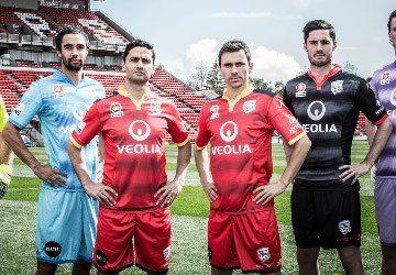 Adelaide United FC 2015/16 Kappa Home, Away and Third Kits