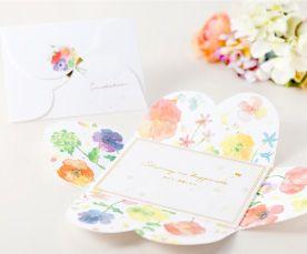 花咲く招待状|結婚式の招待状はWORLD1(ワールドワン)招待状で!