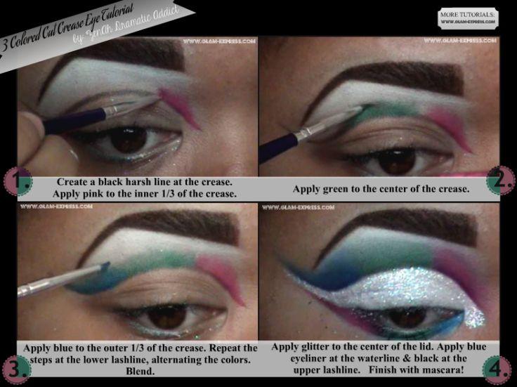3-Colored Cut Crease Eye Tutorial - Glam Express