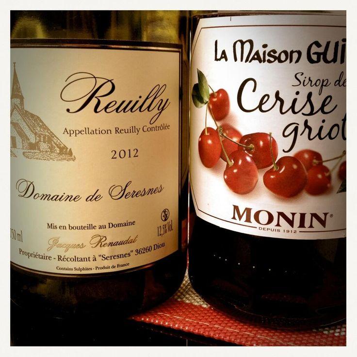 Alliance du Reuilly et du sirop Monin pour l'apéritif !