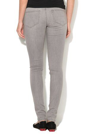 Jeansi slim fit gri deschis Commit ieftini dama #pantaloni #jeansi #BlugiDama