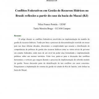 III Encontro da ANPPAS 23 a 26 de maio de 2006 Brasília-DF Conflitos Federativos em Gestão de Recursos Hídricos no Brasil: reflexões a partir do caso da bac. http://slidehot.com/resources/ta156-03032006-151938-1.34262/