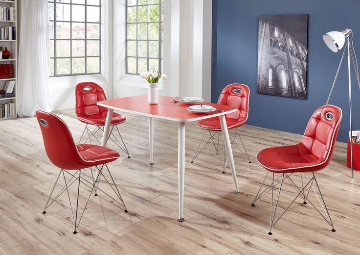 Schalenstuhl ANJA ergonomisch in 2er Set Rot / Weiß Jetzt bestellen unter: https://moebel.ladendirekt.de/kueche-und-esszimmer/stuehle-und-hocker/esszimmerstuehle/?uid=b2a07d5d-32f0-5c12-8922-26a4928ab262&utm_source=pinterest&utm_medium=pin&utm_campaign=boards #stühle #kueche #bänke #esszimmerstuehle #esszimmer #hocker #stuehle Bild Quelle: www.wohnorama.de