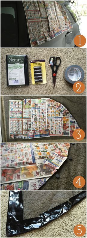 Instructions for creating your own cheap car window screen for camping - Campfire Chic