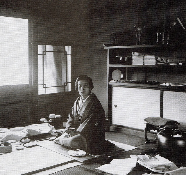 Uemura Shoen (1875-1949); First woman to receive the Order Of Cultural Merit in Japan (1948)