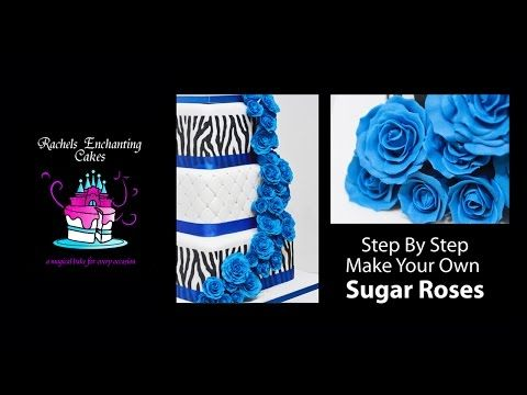 (8) How To Make A Sugar Rose - Step by Step - YouTube