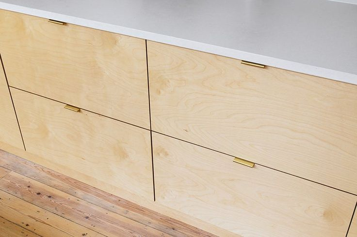 Wood faced ply fronts