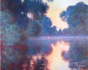Monet - Misty Morning on the Seine in Bue