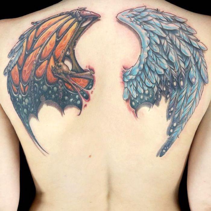 Rücken Tattoo Flügel