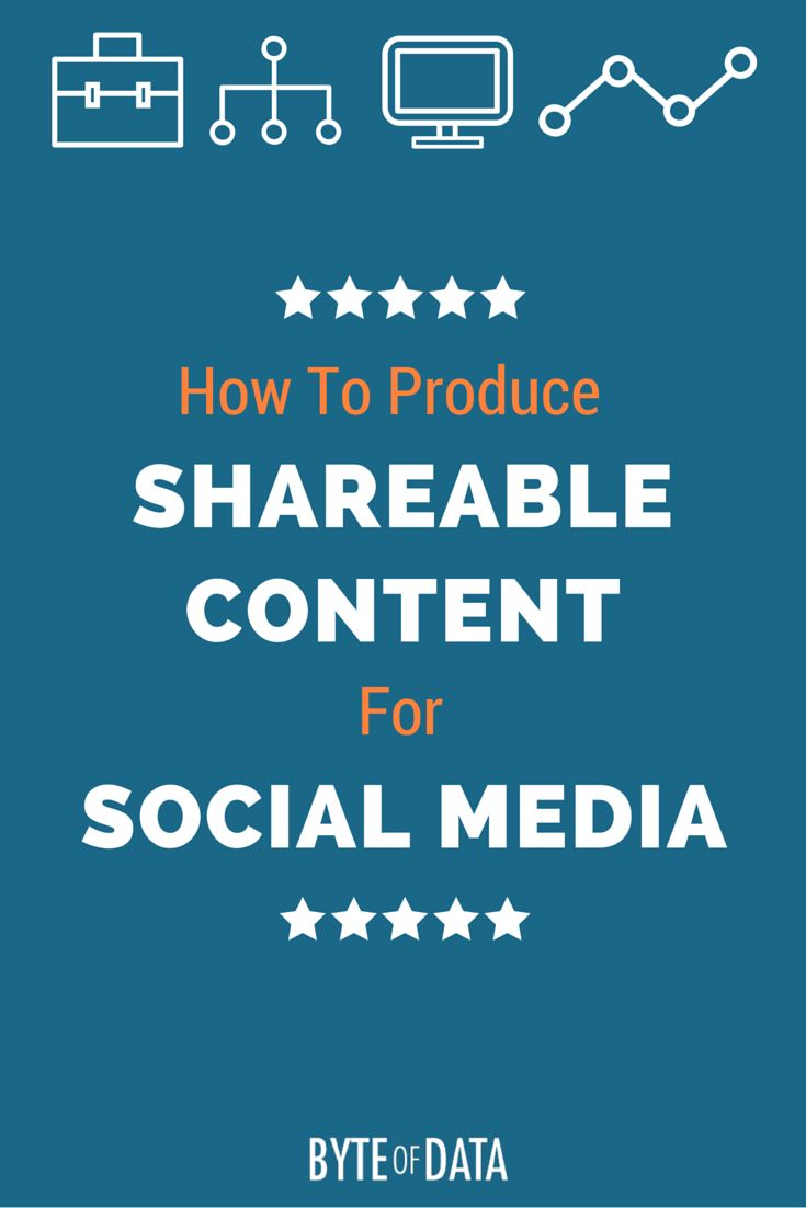 How to Produce Shareable Content For Social Media [Infographic]