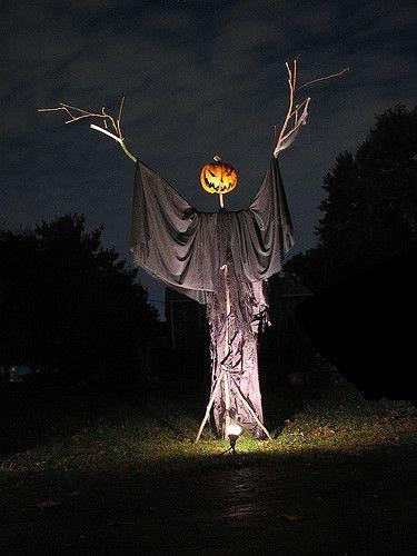 Pumpkin-head scarecrow   10/31/05   Jaybird   Flickr
