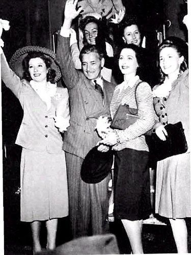 War bond tour with Greer Garson, Ronald Colman, Hedy Lamarr and Irene Dunne, 1941