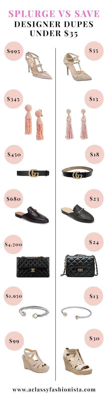 SPLURGE VS SAVE // DESIGNER DUPES UNDER $35   A Classy Fashionista