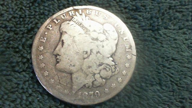 1879  Morgan Silver Dollar  R8T2