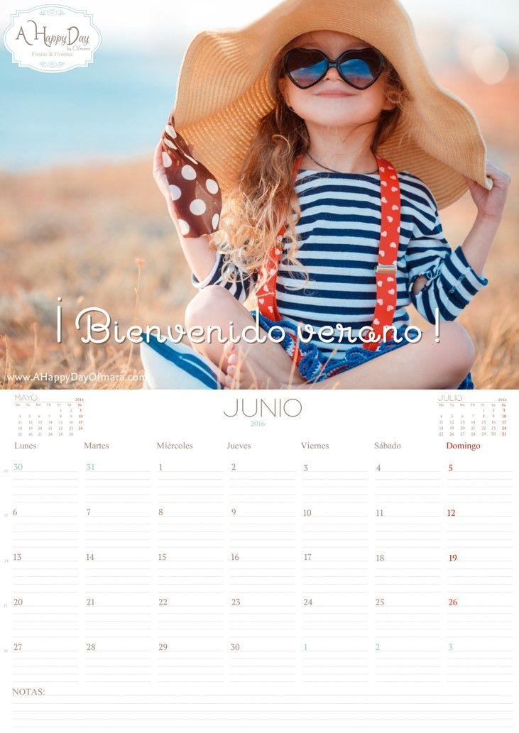 """¡Ya esta aquí nuestro calendario del mes de """"Junio 2016"""" ! dándole la bienvenida al verano. En A Happy Day by Ofmara la planificación es fundamental en nuestro día a día y sabemos que para ti también lo es! así que sigue las instrucciones que te detallamos a continuación para descargártelo """"gratis"""": Para descargarlo, sigue…"""