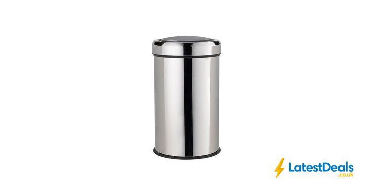 HOME 50 Litre Touch Top Kitchen Bin - Silver, £28 at Argos