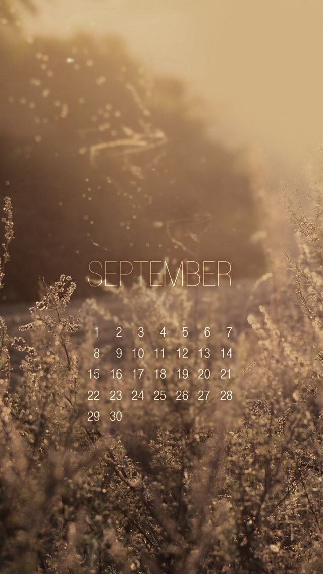 Calendar Wallpaper Iphone : Vintage september calendar beautiful