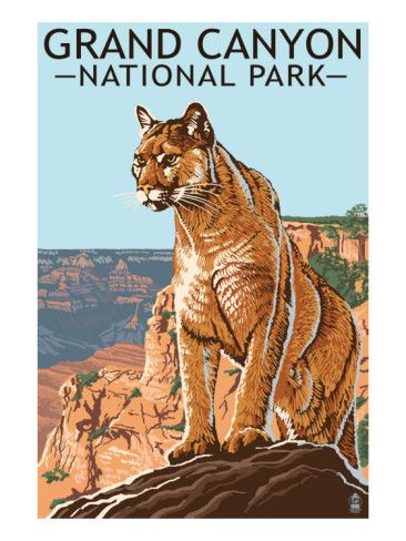 Grand Canyon National Park - vintage travel poster