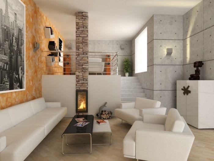 25+ best ideas about kaminofen weiß on pinterest | weißer kamin ... - Wohnzimmer Design Modern Mit Kamin