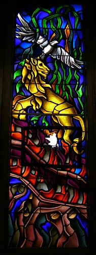Stained glass in Temple Beth-El, Knoxville, TN