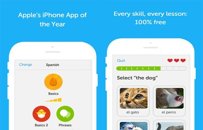 Duolingo (free; iOS, Android, Windows). The Duolingo app is an addictive, fun way for students to learn a new language. Duolingo pairs new words with pictures much like the Rosetta Stone versions do, only the app is completely free with no ads to get in your way. Learn languages like Spanish, French, Italian, Portuguese and others through speaking exercises, listening exercises and interactive games that have you match words, select missing words within a sentence and translate sentences.