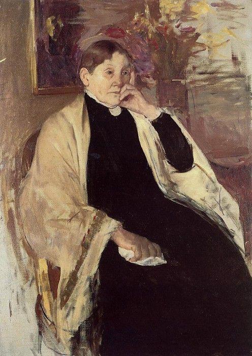Мэри Кассат. Миссис Роберт С. Кассат или Катерина Келсон Джонсон Кассат.