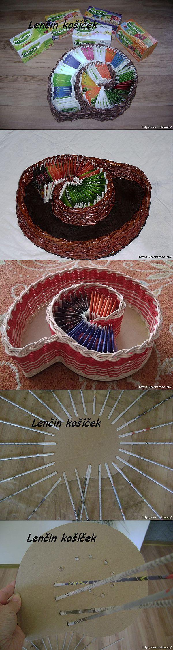 Плетение из газет. Вазочка УЛИТКА для чайных пакетиков     Плетение из газет   Постила