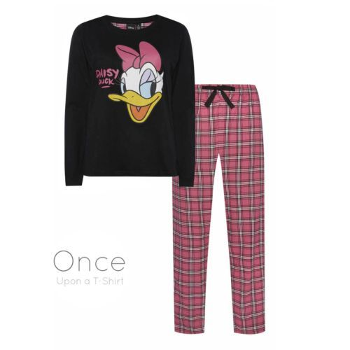 Ladies-DISNEY-DAISY-DUCK-Long-Sleeve-Pyjamas-PJ-SET
